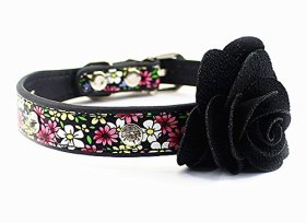 Nugoo 094 Cute Pet Dog Cat Kitty Puppy Wear Adjustable Cozy Bow Tie Collar (Black4)