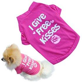 Binmer(TM)Fashion Pet Dog Clothes Cat Puppy Pet Puppy Spring Summer Shirt Small Pet Clothes Vest T Shirt (M)