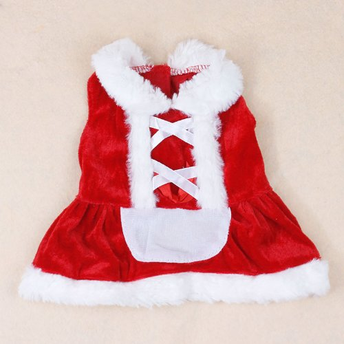 Colorfulhouse Christmas Dog Dress Cute Pet Costumes Pet Apparel for Small Dogs (XS)