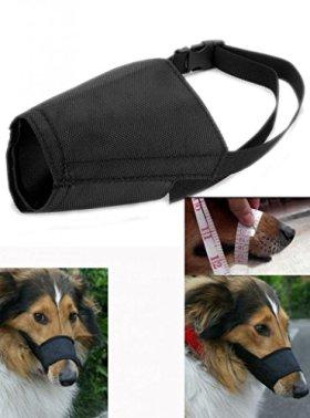 "Enjoying Adjustable Dog Puppy Grooming Muzzle Masks Pet Doggie Anti Bites Bark No.5: Snout circumference:7.4"",length:2.2"""