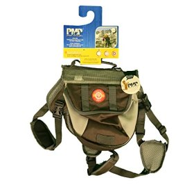 Protect Me Alert Series New Durable Dog Back Pack, Large, Brown