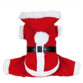 Dogloveit Santa Christmas Costumes Pet Dog Cat Xmas Outfit for Pet Dogs, Medium