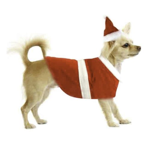 Cozy Santa Dog Outfit & Christmas Costumes for Winter – Medium