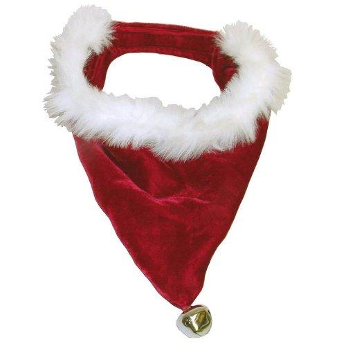 Outward Hound Kyjen  PP01862 Dog Santa Bandanna Holiday Pet Accessories, Small, Red