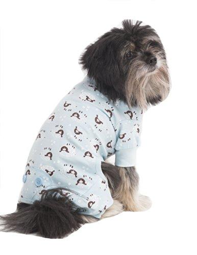Fashion Pet Lamb Print Pet PJ's, Medium, Blue