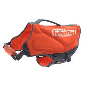 Outward Hound Kyjen  22024 Neoprene Dog Life Jacket, Small, Orange