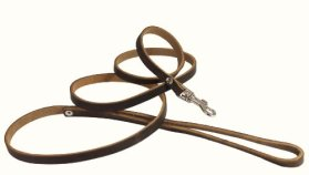 Genuine Leather Classic Dog Leash, 4′ Long, 3/8″ Wide, Puppies, XSmall Breeds