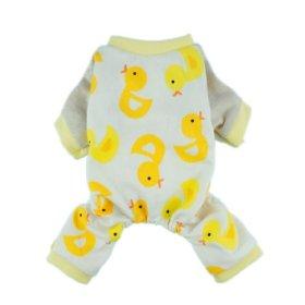 Fitwarm® Duck Dog Pajamas Dog Clothes Dog Jumpsuit Pet Cat Pjs, Small