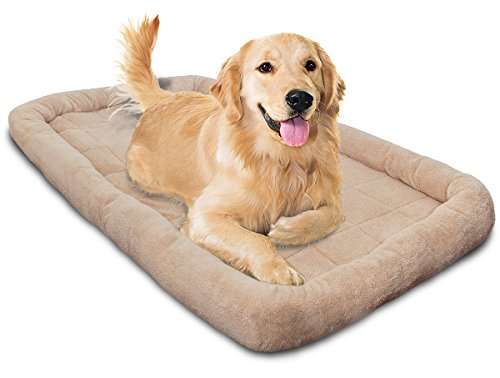 Oxgord 48″ by 30″ Quite Time Bolster Dog Crate Bedding Pad with Slumber Bumber Rim, 3X-Large
