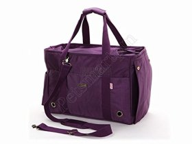 Petsmartpm 140PPD Purple Nylon Dog Purse Bag Pet Carriers Bag Cat Totes Bag Puppy Handbag Doggy Cage