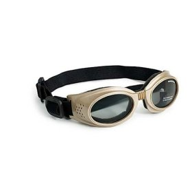 Doggles Originalz Large Frame Goggles for Dogs with Smoke Lens, Chrome