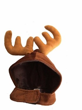 Small Brown Pet Antlers Christmas Holiday Hat for kitten Cats Dog Accessories