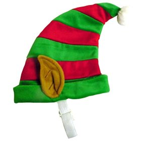 Outward Hound Kyjen  30035 Dog Elf Hat Holiday and Christmas Pet Accessory, Small, Red and Green