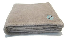 Cozi Pet Blanket for Small Breeds – Dog Puppy Cat Kitten – Ultra-soft Warm Fleece 40×40 Inch Square – Best for Pet Bed Pad Cot Basket Cage Crate Carrier Lap – Throw Protects Sofa Couch and Car (Gray)