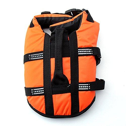Pet Lifte Preserver – All Sizes – Dog Life Vest Jacket Doggy Life Jacket Orange Large