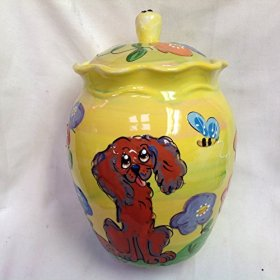 King Charles Cavalier Memorial Urn. Personalized at no Charge. Signed by Artist, Debby Carman.