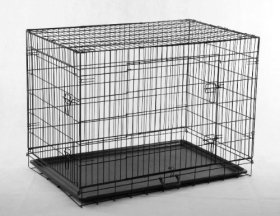 Best Pet Black 36″ Pet Folding Dog Cat Crate Cage Kennel w/ABS Tray LC