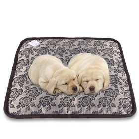 Namsan Safety Heating Pad, Pet Puppy Cat Bed Electric Heating Blanket, Waterproof Mat, Winter Warm Pad with Anti-bite Tube