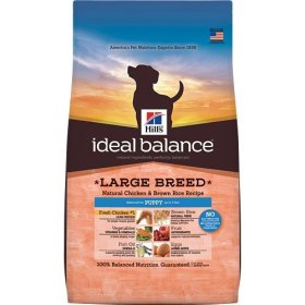 Hill's Ideal Balance Large Breed Natural Chicken & Brown Rice Recipe Puppy Dry Dog Food, 27-Pound