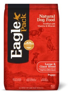 Eagle Pack Natural Dry Dog Food, Large & Giant Breed Puppy Health Lamb, Chicken & Fish Meal Formula, 30-Pound Bag