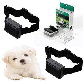 2x Anti Bark No Barking Tone Shock Dog Training Collar for Small Medium 8-150 lb