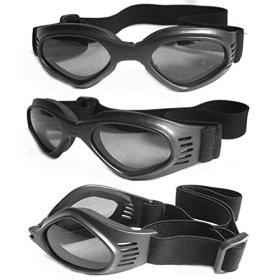 Pet Dog Sunglasses – Protective Eyewear Goggles Small Waterproof Protection (Black)