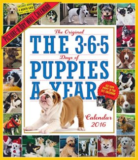 The 365 Puppies-A-Year Picture-A-Day Wall Calendar 2016