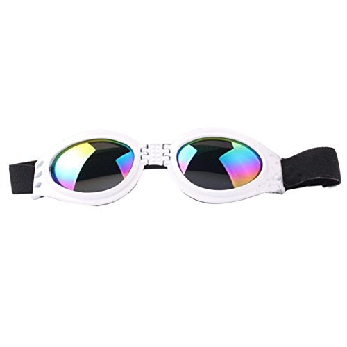 IUNEED Fashion Dog Pet UV Sunglasses Eye Wear Protection Goggles (White)