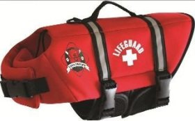 Neoprene Doggy Life Jacket- Red (S (15-20 lbs))