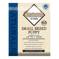 Diamond Naturals Dry Food for Puppy, Small Breed Chicken Formula, 18 Pound Bag