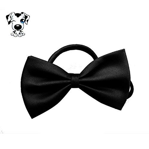 Ularmo Fashion Cute Dog Puppy Cat Kitten Pet Toy Kid Bow Tie Necktie Clothes (black)