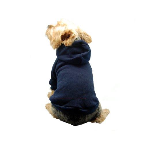 Anima Navy Blue Pullover Drawstring Hoodie Sweatshirt, Small