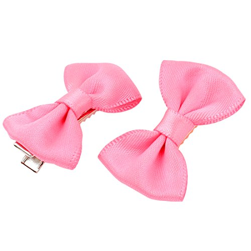Uxcell Pet Cat Dog Hair Grooming Hairpin Headdress Barrette Clip, Free Size, Pink