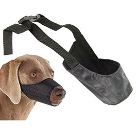 Dog Muzzle Pet Puppy Safety Mouth Cover Adjustable Stop Bit Chew Bark