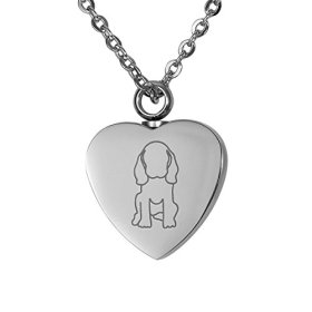 VALYRIA Memorial Jewelry Puppy Paws Heart Urn Keepsake Cremation Ashes Necklace