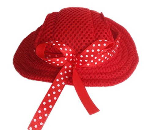 Evergreens Princess Style Pet Dogs Hat (Red)