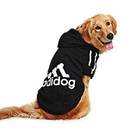 Eastlion Large Dog Warm Hoodies Coat Clothes Sweater Pet Puppy T Shirt Black 9XL