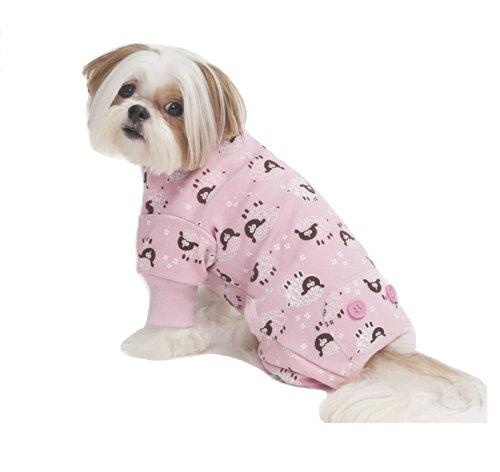 Fashion Pet Lamb Print Pet PJ's, Medium, Pink