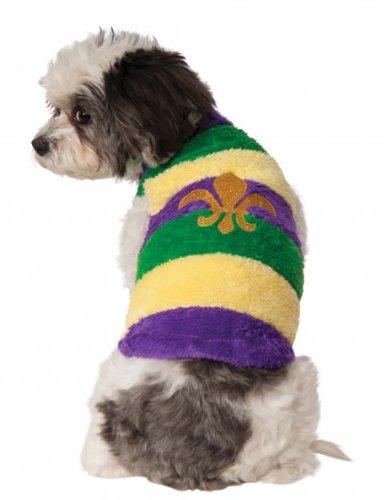 Rubies Costume Company Mardi Gras Soft Pet Sweater, Small