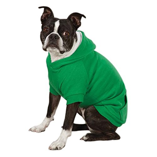 Zack & Zoey Polyester Fleece Lined Dog Hoodie, Large, Green
