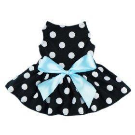 Fitwarm® Cute Polka Dot Ribbon Dog Dress Dog Clothes Cozy Dog Shirt Pet Dress, Small