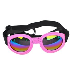 Voberry® Fashionable Water-Proof Multi-Color Pet Dog Sunglasses Eye Wear Protection Goggles Small (Pink)