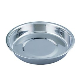 QT Dog Puppy Stainless Steel Pan, 14″