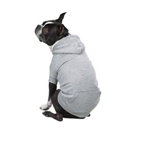 Zack & Zoey Polyester Fleece Lined Dog Hoodie, Large, Gray