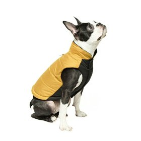 Gooby Winter Wind Breaker Dog Parka for Small Dogs, Yellow, Large