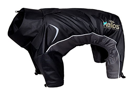 Helios Blizzard Full-Bodied Adjustable and 3M Reflective Dog Jacket, Black, XL
