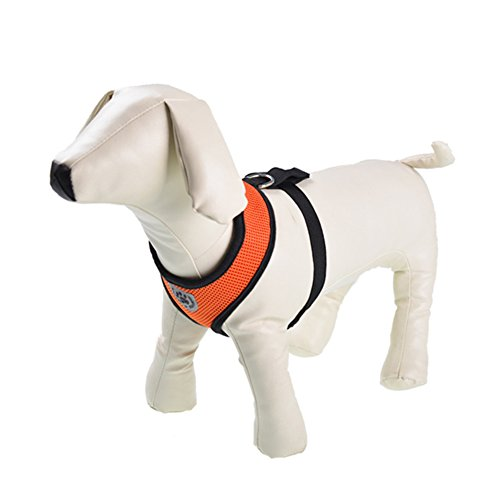 My Pet Soft Mesh Comfy Step in Dog Vest Harness for Minis,Toys,Puppies,Small Dog Breeds 3.3-5.5lbs,Orange XS