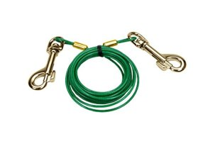 Titan® Puppy Tie Out Cable with Titan® Brass Plate Snaps