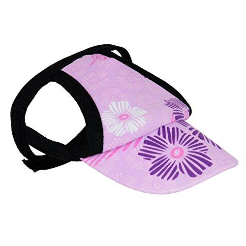 PlayaPup Sun Protective Dog Visor, Small, Floral Stamp Purple
