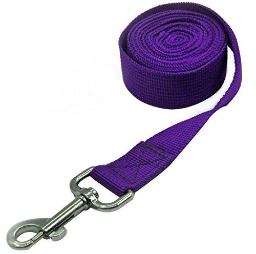 Pet Cuisine Nylon Long Dog Walking Leash For Harness Collar Cat Puppy Training Lead Rope 8 Feet Purple